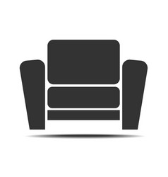 Living room armchair icon vector