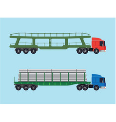 Long-size trucks vector