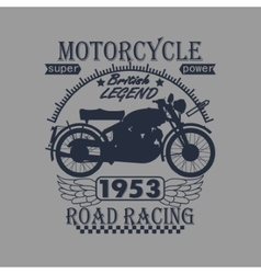 Motorcycle Racing Typography Graphics Label T vector image