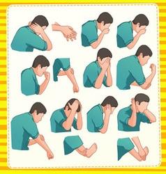 muslim ablution postion vector image