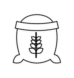 open sack of wheat full flour grain farm vector image vector image