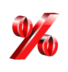 Percentage sign vector