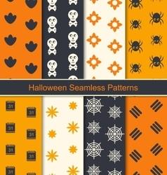 Seamless Textures for Happy Halloween vector image