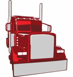 semi truck illustration vector image vector image