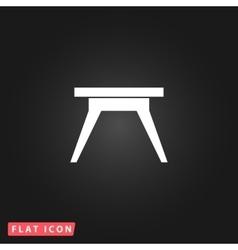 Small table icon vector