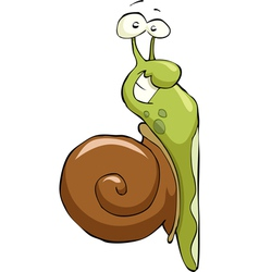 snail crawling up vector image