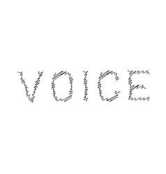 Voice scribble line logo vector