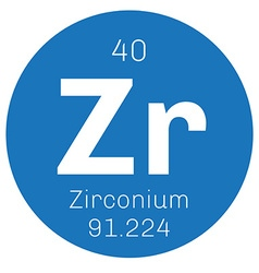 Zirconium chemical element vector image