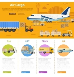 Air cargo infographics vector