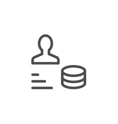 Salary line icon vector