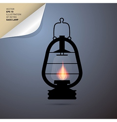 Vintage lantern gas lamp vector