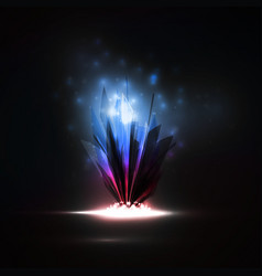 Abstract magic crystal vector