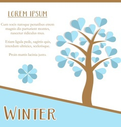Winter season card vector