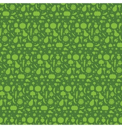Seamless pattern with the vegetables vector