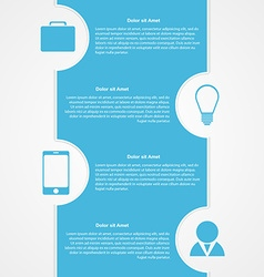 Abstract infographic modern design template vector