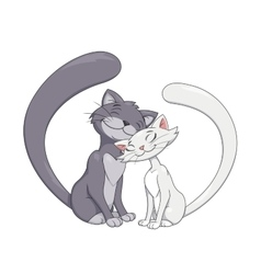Two enamored cats 2 vector