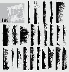 edge grunge two vector image