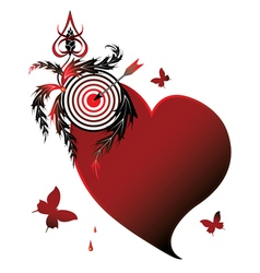Heart and target vector