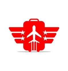 Air plane flight international vector