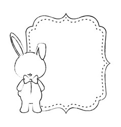 baby shower card with rabbit vector image vector image