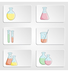 banners with laboratory test tubes vector image vector image