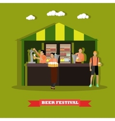 Beer festival concept People vector image vector image
