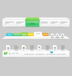 Business Website template infographic design menu vector image vector image