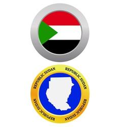 Button as a symbol sudan vector