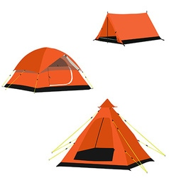 Camping tents vector image