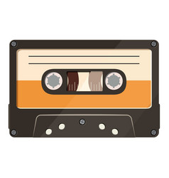 cassette icon cartoon style vector image