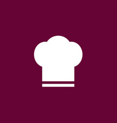 Chef hat icon simple vector