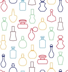 collection Cosmetics Perfume Bottles vector image vector image