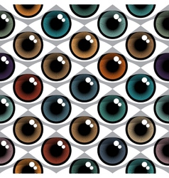 Color Eyes Pattern vector image