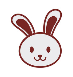 cute bunny face image vector image