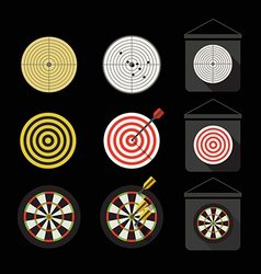 Different darts collection vector image vector image