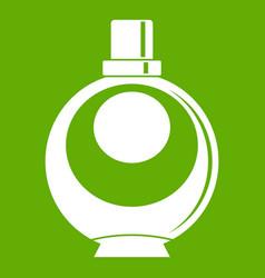 elegant woman perfume round glass bottle icon vector image