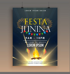 Festa junina celebration poster design template vector