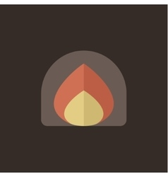 Fire fire flat style icon vector image vector image