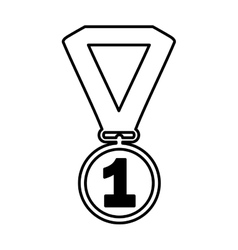 First place medal isolated icon vector