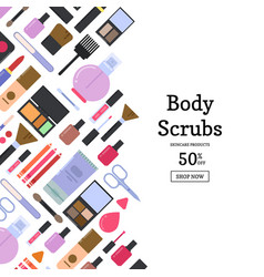 flat style makeup and skincare sale vector image