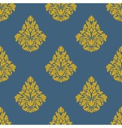 Flourish seamless pattern with bells vector