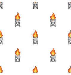 Gas toweroil single icon in cartoon style vector