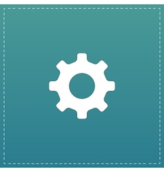 Gear hours icon vector