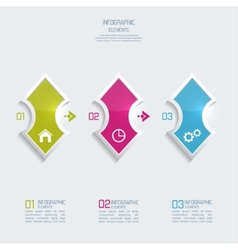 Glossy colorful plastic buttons for infographic vector image vector image