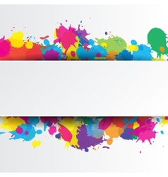 Indian festival background with colors splash vector image vector image