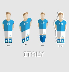 Italy soccer team sportswear template vector