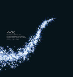 magic with the wave from vector image