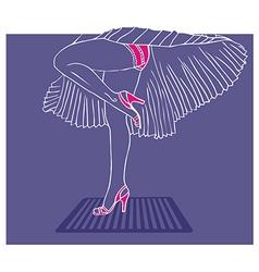 Marilyn Monroe legs style vector image