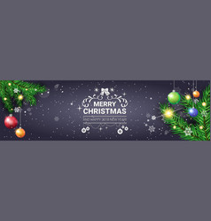 merry christmas poster decorative holiday vector image vector image