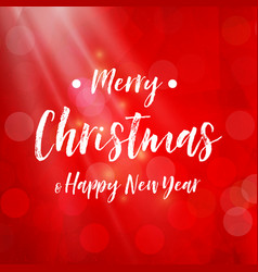 merry christmas - red background sparkle vector image vector image